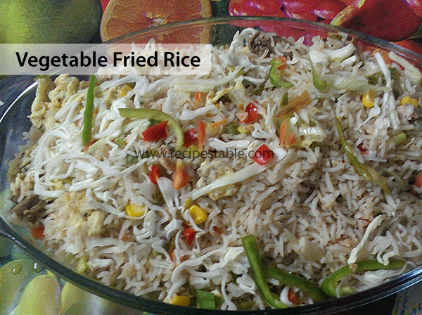 Vegetable Fried Rice Recipe - RecipesTable