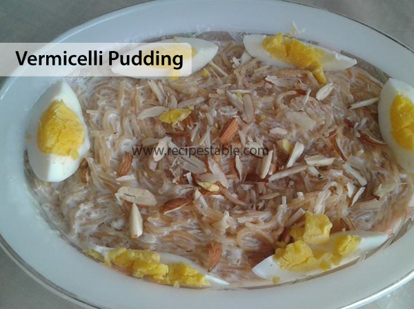 Vermicelli Pudding Recipe