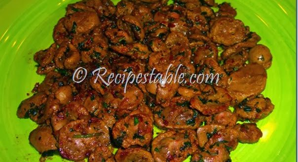 Fried Mutton Kidneys recipe