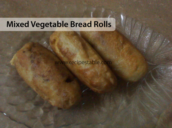 Mixed Vegetable Bread Rolls Recipe