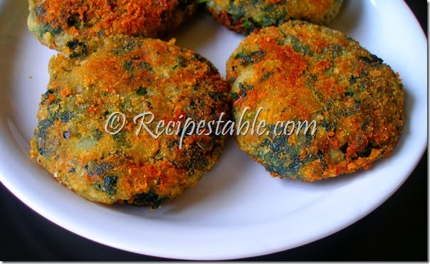 Spinach Cutlet Recipe