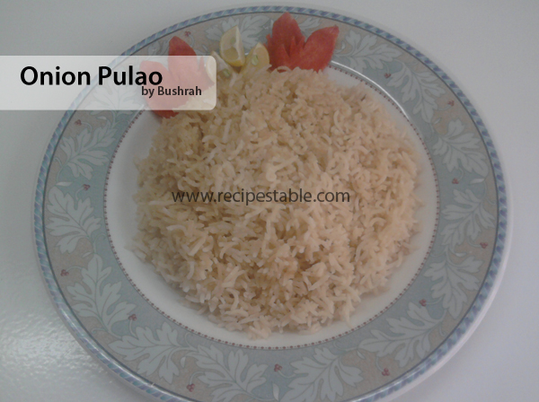 Onion Pulao Recipe