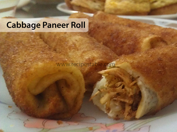 Cabbage Paneer Roll Recipe