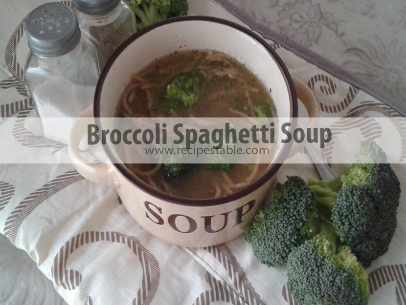 Broccoli Spaghetti Soup Recipe