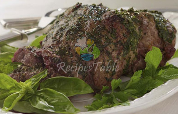 Lamb Leg With Hara Masala Recipe