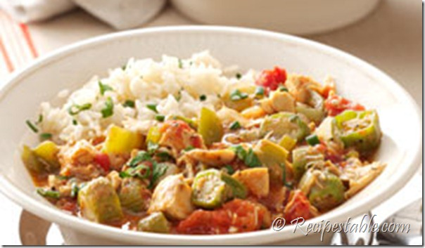 Baked Chicken and Okra Recipe