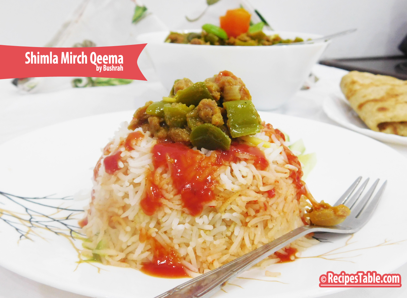 Shimla Mirch Qeema (Mince with capsicum)