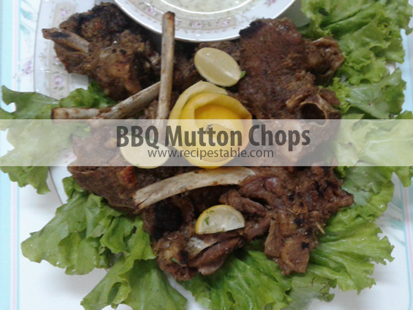 BBQ Mutton Chops Recipe