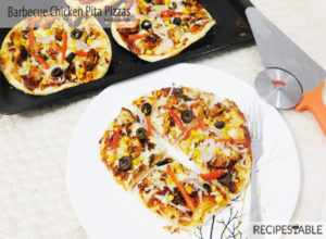 Barbecue Chicken Pita Pizzas