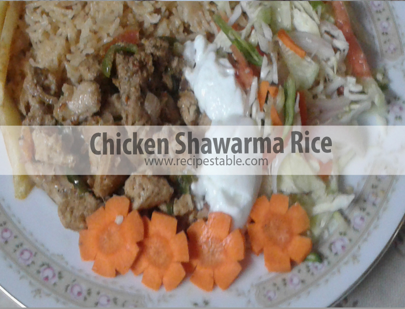 Chicken Shawarma Rice Recipe