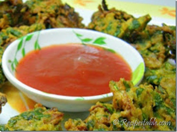Spinach and Mint Pakora recipe