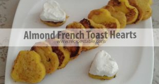 Almond French Toast Hearts Recipe