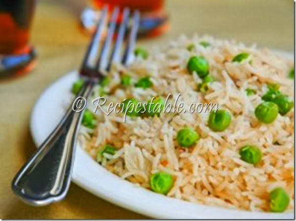 Recipe: Mattar Paneer Pulao (Green Peas & Cheese Pulao)