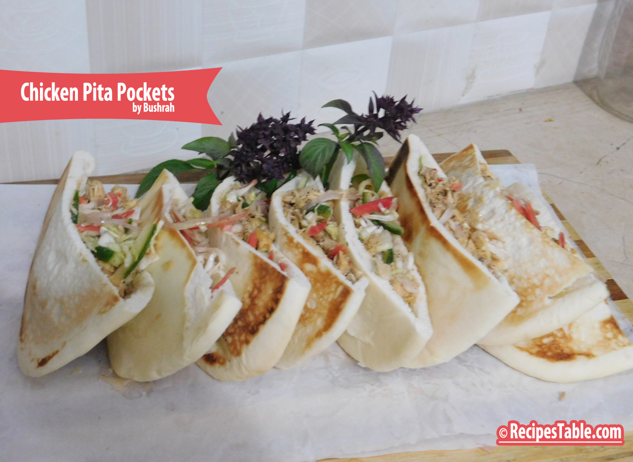Photo: Chicken Pita Pockets