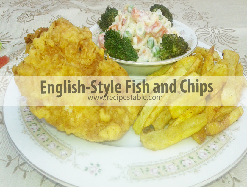 English-Style Fish and Chips recipe