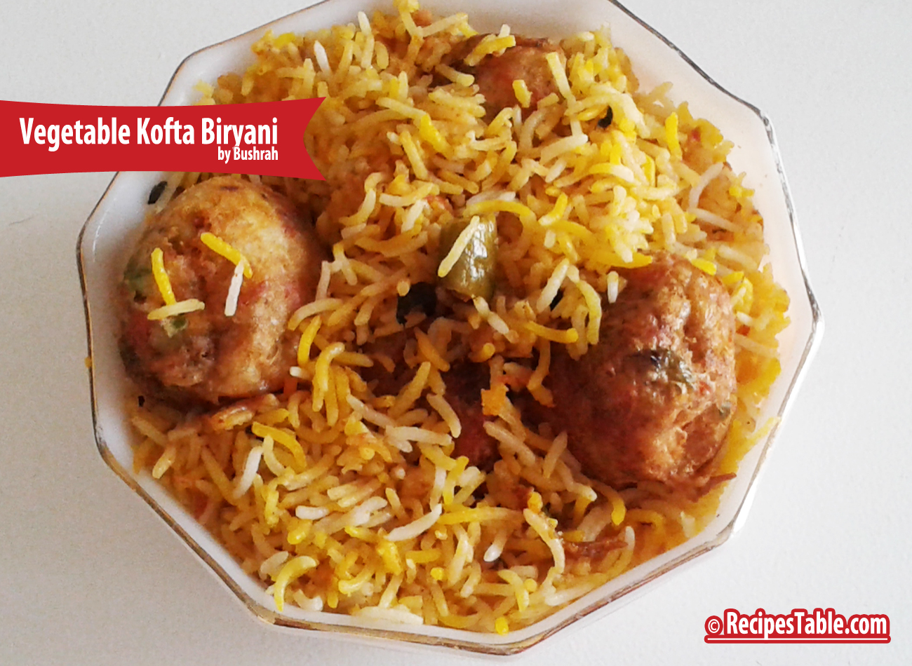 Vegetable Kofta Biryani Recipe