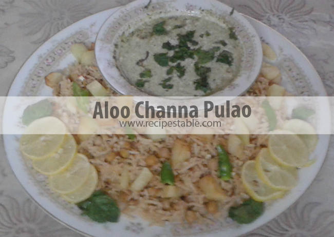Recipe: Aloo Channa Pulao