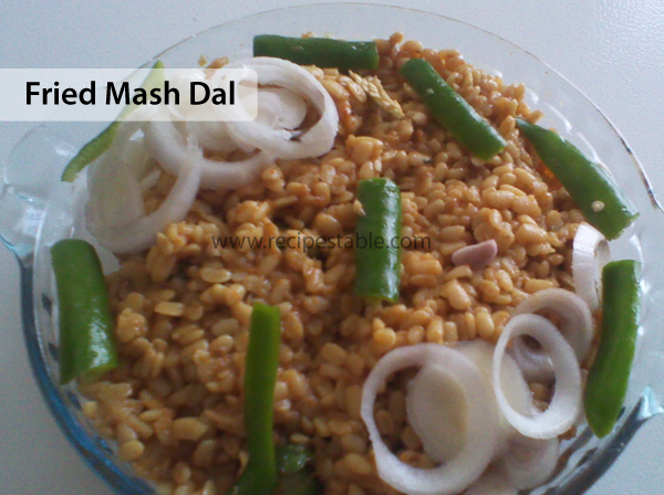 Fried Mash Dal Recipe