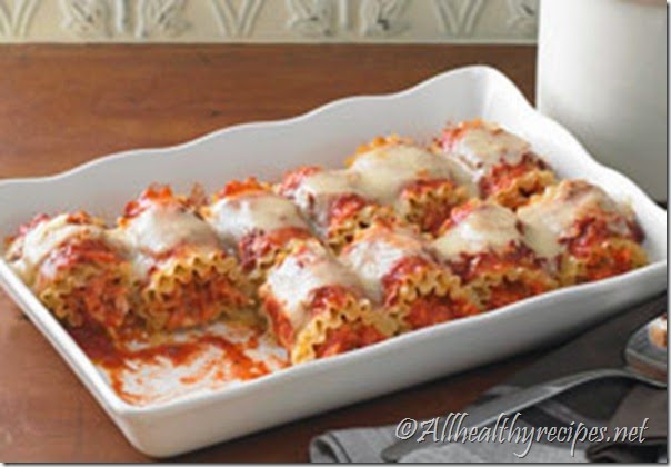 Ground Beef Lasagna Roll Ups recipe