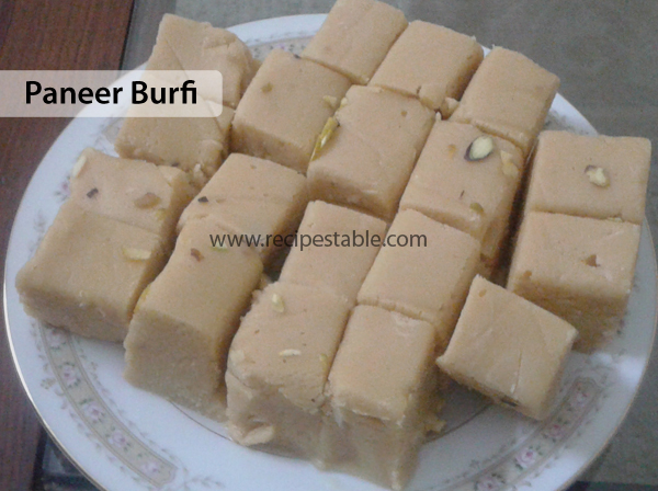 Paneer Burfi Recipe
