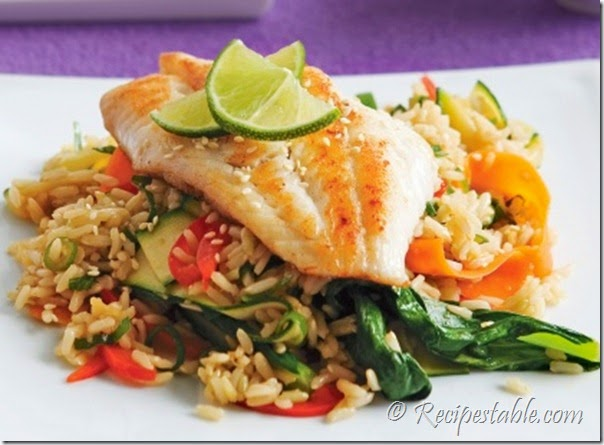Baked fish and rice recipe recipes table for Rice recipes to go with fish
