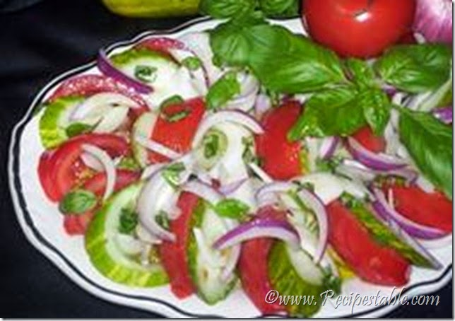 Raw Vegetable Salad Recipe