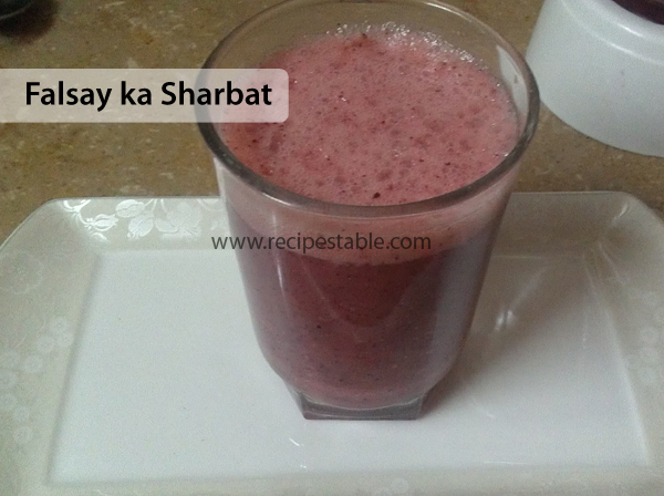 Falsay ka Sharbat Recipe