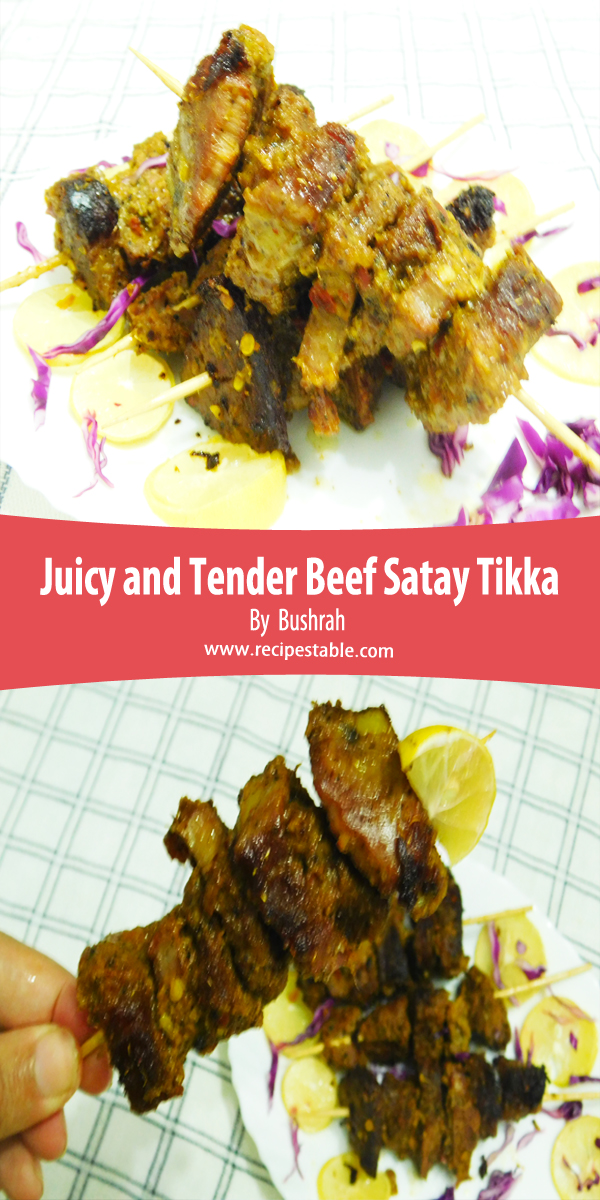 Juicy Tender Beef Satay Tikka Recipe _ Pin it For Later