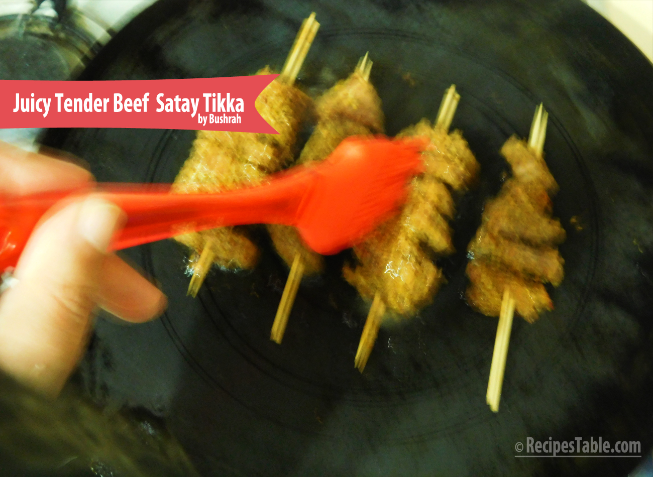 Juicy and Tender Beef Satay Tikka recipe