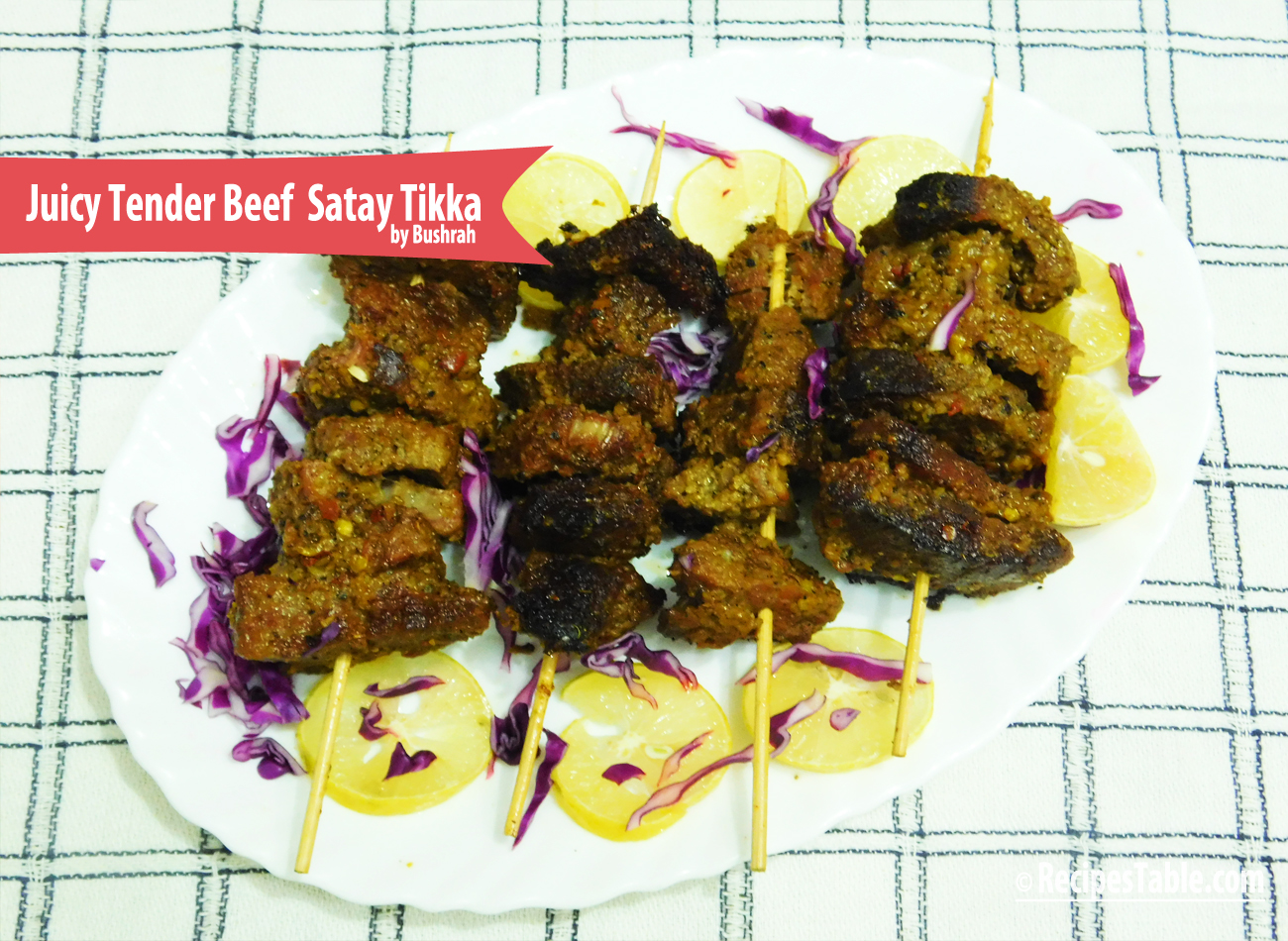 Juicy and Tender Beef Satay Tikka