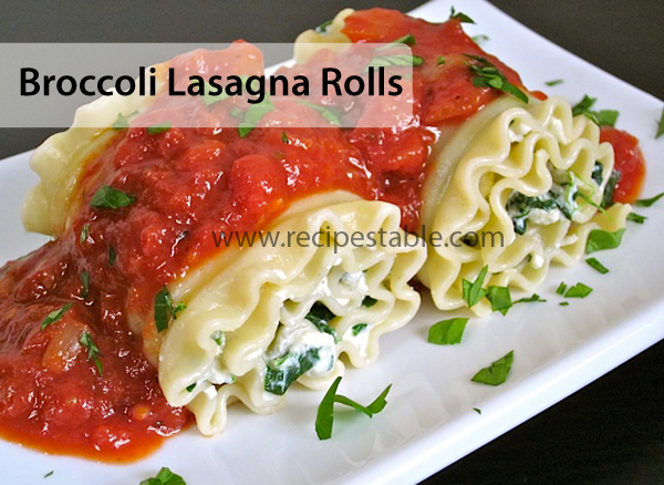 Broccoli Lasagna Rolls Recipe