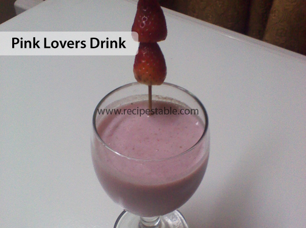 Pink Lovers Drink Recipe