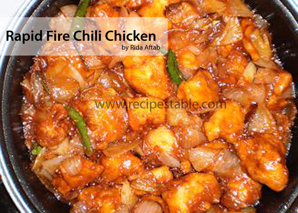 Rapid Fire Chili Chicken Recipe
