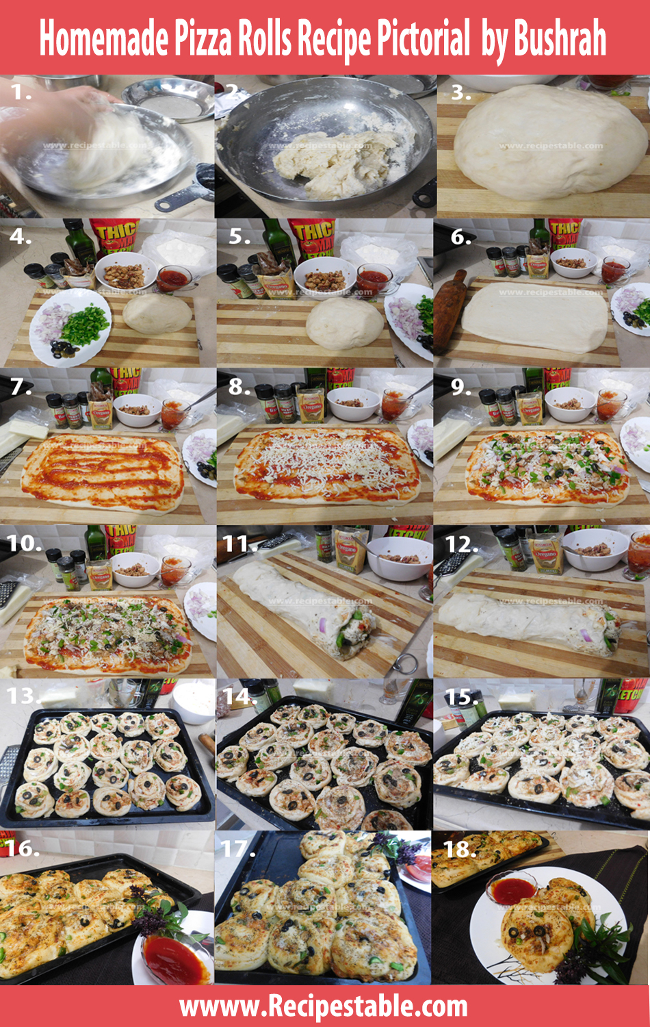 Homemade Pizza Rolls Recipe Pictorial