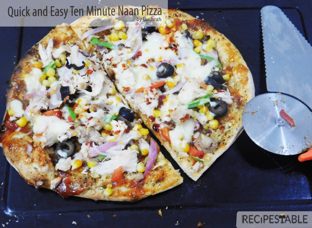 Quick and Easy Ten Minute Naan Pizza
