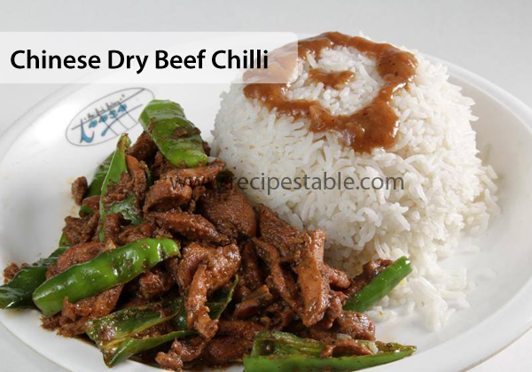 Chinese Dry Beef Chilli Recipe