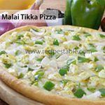 Green Malai Tikka Pizza Recipe