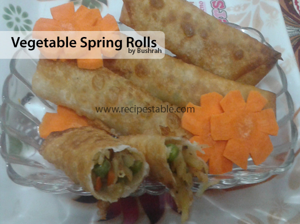 Vegetable Spring Rolls Recipe with Step by Step Pictures