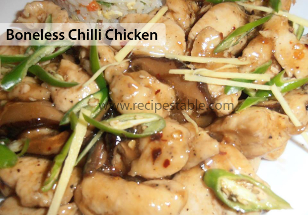 Boneless Chilli Chicken Recipe