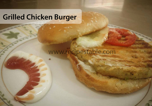 Grilled Chicken Burger Recipe