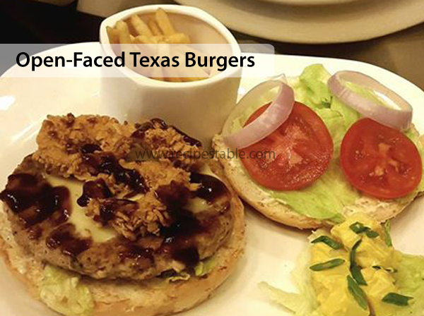 Open-Faced Texas Burgers Recipe