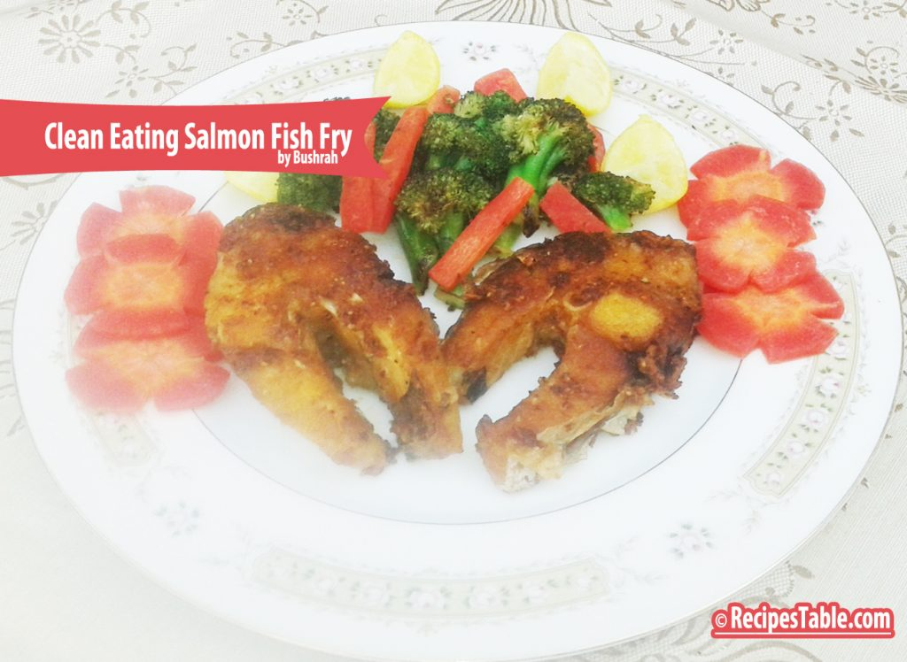 Clean Eating Salmon Fish Fry