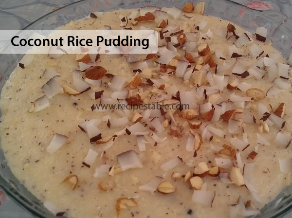 Coconut Rice Pudding Recipe - RecipesTable