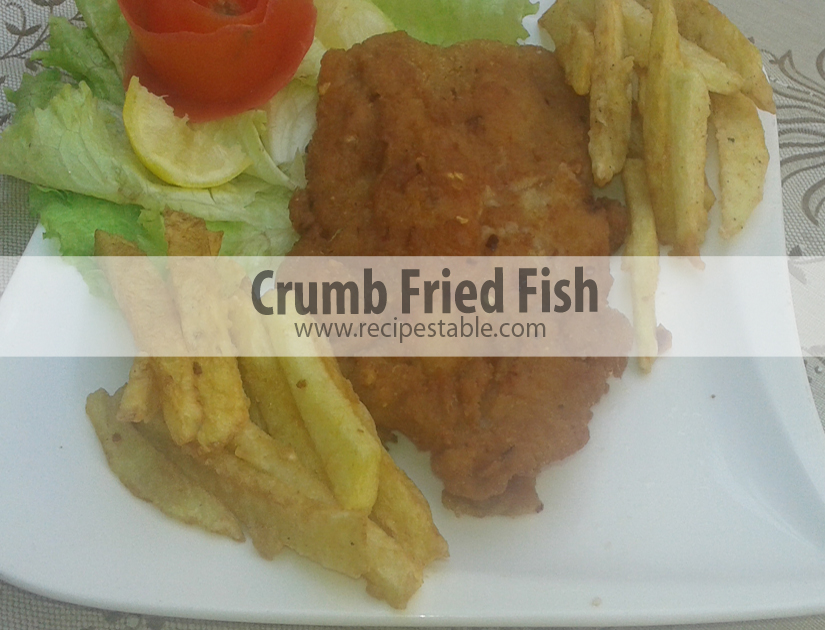 Recipe crumb fried fish recipes table for Fried fish with bread crumbs