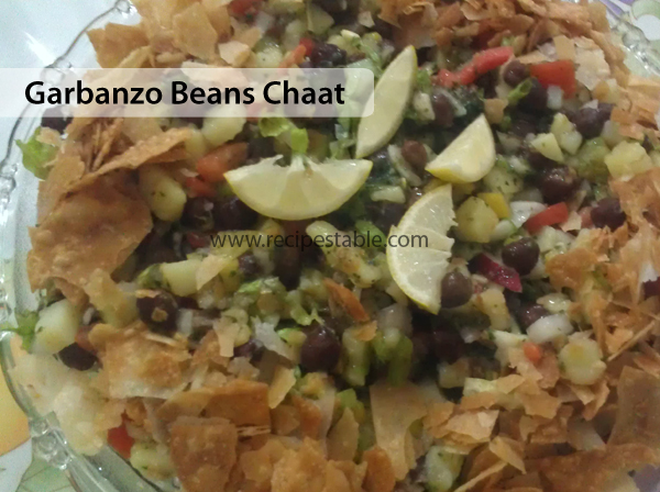 Garbanzo Beans Chaat Recipe