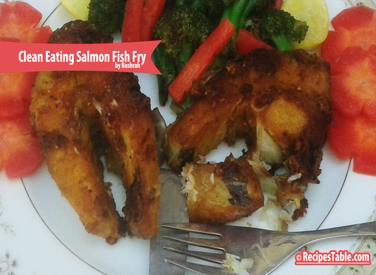 Recipe salmon fish fry clean eating version recipes table for Cleanest fish to eat