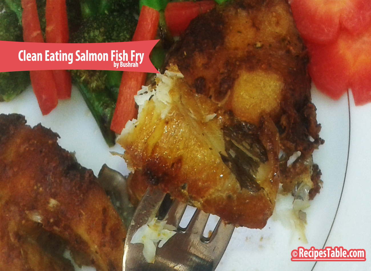 Recipe salmon fish fry clean eating version recipes table for Fish fry ingredients