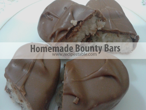 Homemade Bounty Bars Recipe