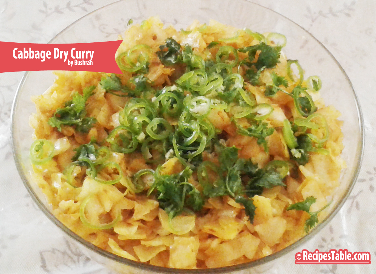 Cabbage Dry Curry recipe