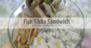 A simple fish tikka sandwich that can be made with any white fish fillets. Served on toasted bread slices with boiled egg, lettuce leaves and cabbage coleslaw. YUM YUM YUMMY Treat!!
